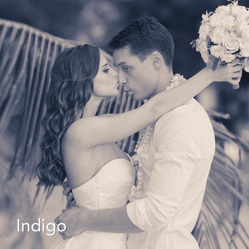 Indigo Foto Tönung